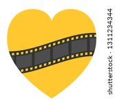 film strip frame icon. wave... | Shutterstock .eps vector #1311234344