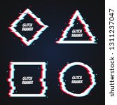 vector geometric shapes frames... | Shutterstock .eps vector #1311237047
