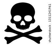 skull and bones icon | Shutterstock .eps vector #1311241961