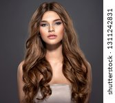 closeup face of a beautiful... | Shutterstock . vector #1311242831