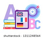 learning foreign languages... | Shutterstock .eps vector #1311248564