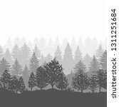 forest trees silhouettes... | Shutterstock .eps vector #1311251684