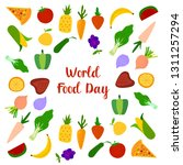world food day with colorfull...   Shutterstock .eps vector #1311257294