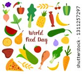world food day with colorfull...   Shutterstock .eps vector #1311257297