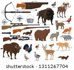 hunt animals and hunter ammo... | Shutterstock .eps vector #1311267704