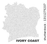 ivory coast map designed with...   Shutterstock .eps vector #1311275237