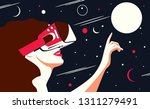 vector illustration of a woman...   Shutterstock .eps vector #1311279491