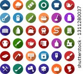 color back flat icon set  ... | Shutterstock .eps vector #1311280037