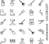 thin line icon set   job vector ... | Shutterstock .eps vector #1311281237