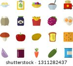 color flat icon set toaster... | Shutterstock .eps vector #1311282437