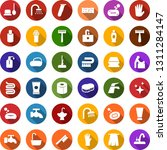 color back flat icon set   baby ... | Shutterstock .eps vector #1311284147