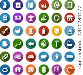 color back flat icon set  ... | Shutterstock .eps vector #1311284177