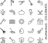 thin line icon set   job vector ... | Shutterstock .eps vector #1311286451
