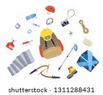 camping icons set. | Shutterstock . vector #1311288431