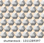 cuboctahedrons in shades of... | Shutterstock .eps vector #1311289397