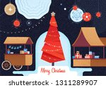 christmas market and holiday... | Shutterstock . vector #1311289907