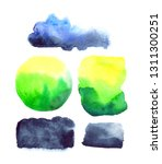 set of watercolor stains  cloud ...   Shutterstock . vector #1311300251