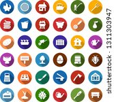 color back flat icon set   pear ... | Shutterstock .eps vector #1311303947