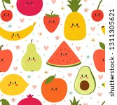 cute seamless pattern with... | Shutterstock .eps vector #1311305621