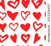 doodle heart seamless pattern.... | Shutterstock .eps vector #1311316457