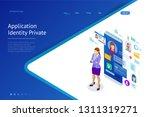 isometric personal data... | Shutterstock .eps vector #1311319271