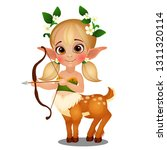 cute animated elf girl centaur... | Shutterstock .eps vector #1311320114