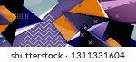 vector 3d triangular shapes...   Shutterstock .eps vector #1311331604