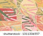 abstract collage asymmetric... | Shutterstock .eps vector #1311336557
