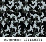 gray camoflage pattern.vector... | Shutterstock .eps vector #1311336881