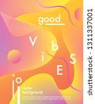 trendy neon poster with flowing ... | Shutterstock .eps vector #1311337001