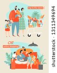 happy family shopping in the... | Shutterstock .eps vector #1311349694