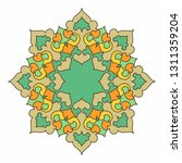colorful mandala. islam  arabic ... | Shutterstock .eps vector #1311359204