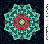 colorful mandala. islam  arabic ... | Shutterstock .eps vector #1311359207