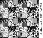 black and white modern collage... | Shutterstock .eps vector #1311361964