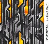 geometric pattern with metal... | Shutterstock . vector #1311364574