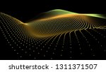 3d sea dots wave gloviwng... | Shutterstock .eps vector #1311371507