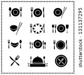 food and restaurant icons set | Shutterstock .eps vector #131137295