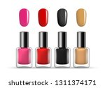 vector set of nail polish... | Shutterstock .eps vector #1311374171