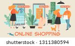 vector conceptual illustration... | Shutterstock .eps vector #1311380594