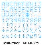led dot matrix panel. letters ... | Shutterstock .eps vector #1311383891