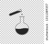 test tube and flask   chemical... | Shutterstock .eps vector #1311389357