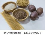 group of carbohydrates for diet ... | Shutterstock . vector #1311399077