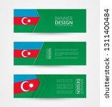 set of three horizontal banners ... | Shutterstock .eps vector #1311400484