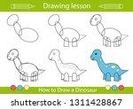 drawing lesson for children.... | Shutterstock .eps vector #1311428867