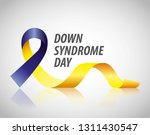 down syndrome day card blue and ... | Shutterstock .eps vector #1311430547