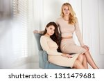 two beautiful sexy woman blond...   Shutterstock . vector #1311479681