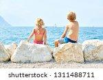 children girl and boy  siblings ... | Shutterstock . vector #1311488711