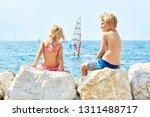 children girl and boy  siblings ... | Shutterstock . vector #1311488717