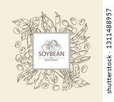 background with soybean  bean ... | Shutterstock .eps vector #1311488957