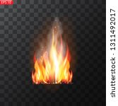 realistic burning fire flames... | Shutterstock .eps vector #1311492017